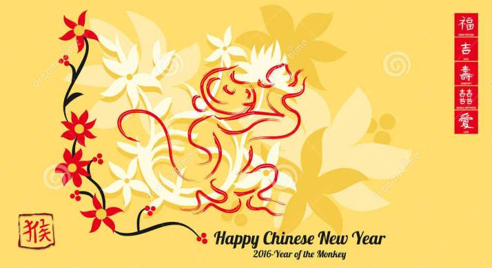 happy-chinese-new-year-zodiac-monkey-red-calligraphy-left-translates-to-monkey-55813283